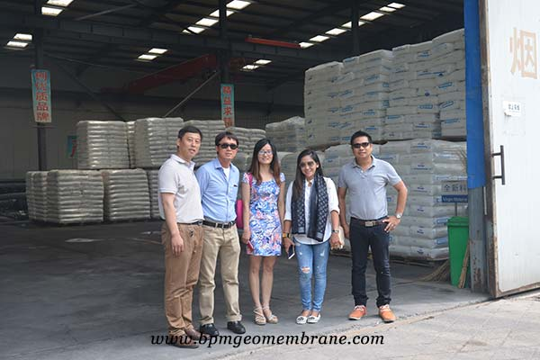 Geomembrane customers from Thailand
