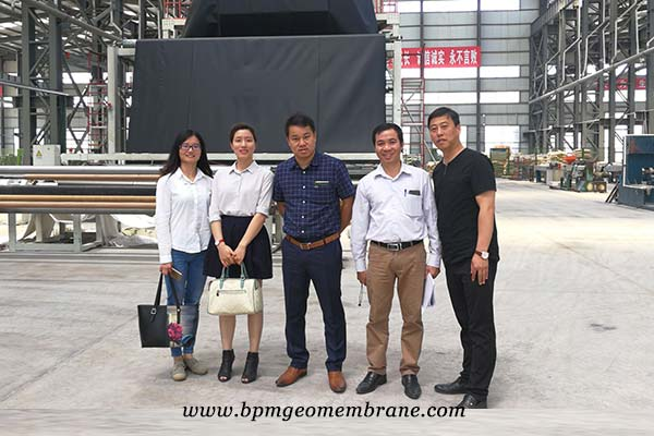 geotextile membrane customers from Vietnam