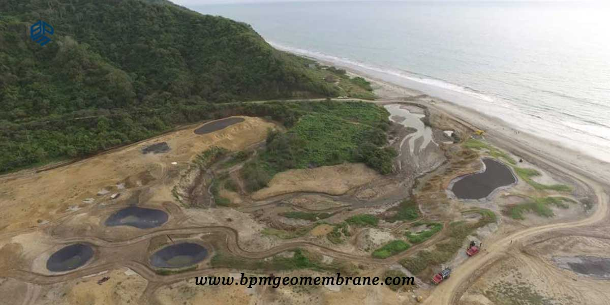 HDPE Liner installation for artificial lake in Ecuador