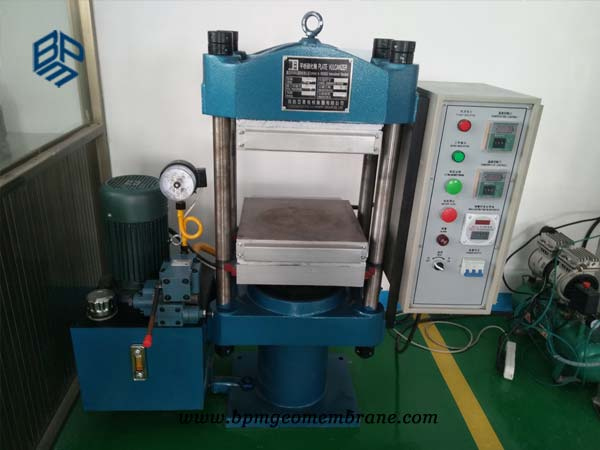 pond liner testing machine