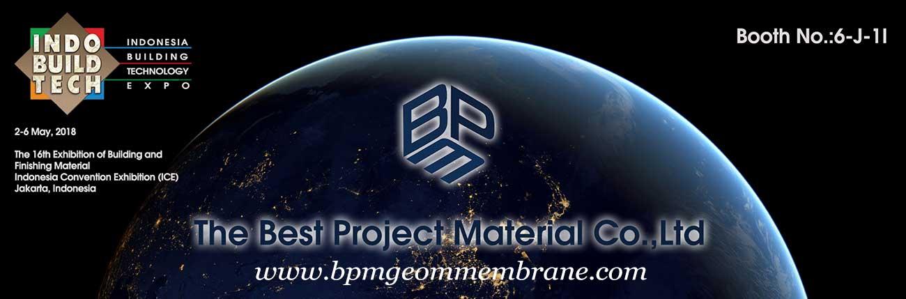 BPM Geo Membranes will Show on IndoBuildTech Jakarta 2018