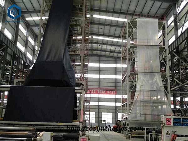 geomembrane production in factory