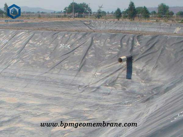 Textured Geomembrane for Sewage Treatment Pool in Carmeroon