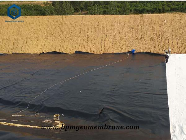 Textured Geomembrane for Sewage Treatment Pool