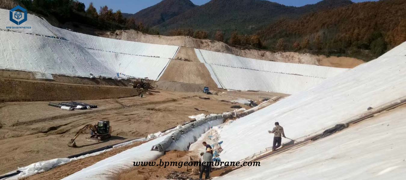 High Density Pond Liner for Dam Construction Project