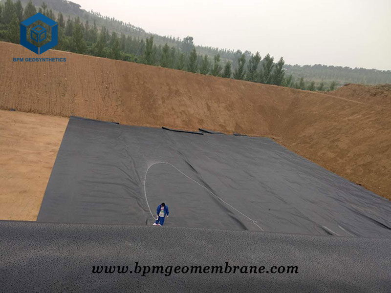Black High Density Polyethylene Pond Liner for Fish Farm in Thailand
