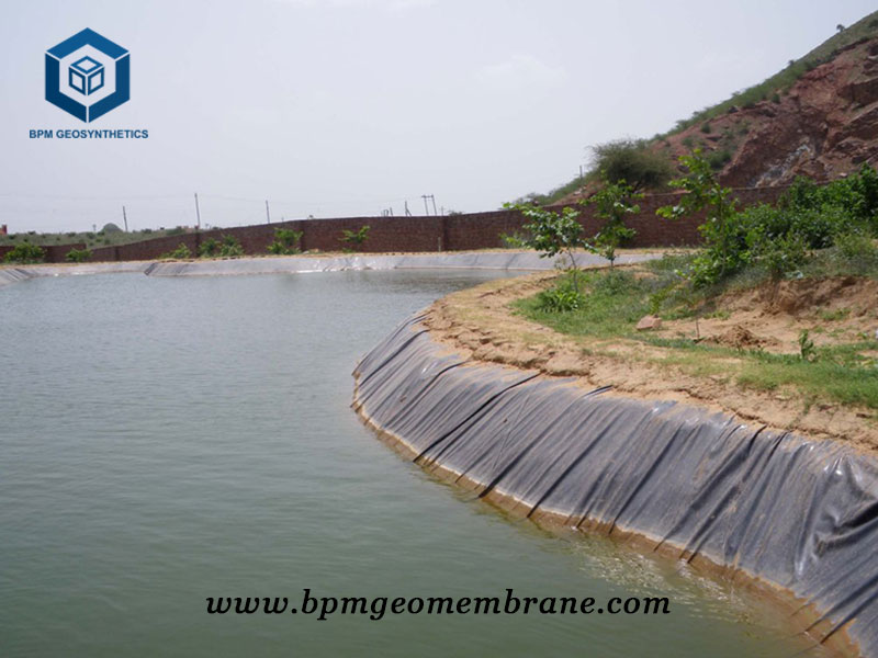 Black High Density Polyethylene Pond Liner for Fish Farm