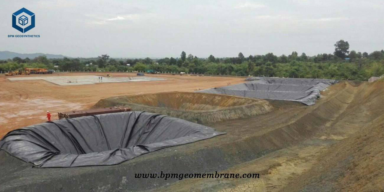 HDPE Pit liner for oil containment project in Myanmar