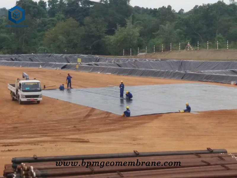 HDPE Pit liner for oil fluid containment project in Myanmar