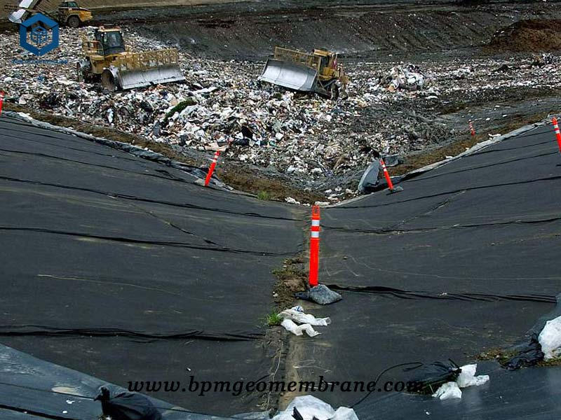 Textured HDPE Sheet for Landfill Project in Russia