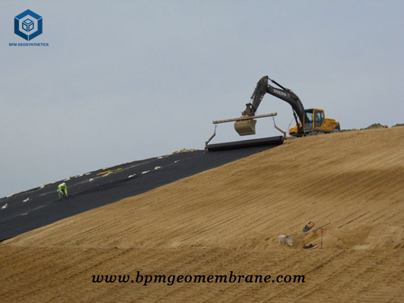 Textured HDPE Sheet for Landfill Projects in Russia