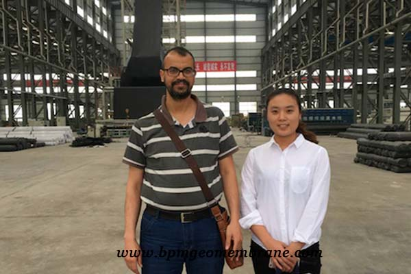 hdpe geomembrane customers from South Africa