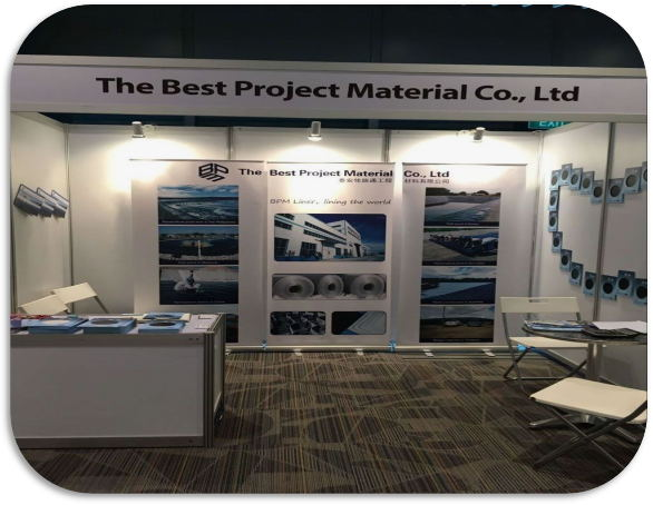 geomembrane liner showed in Singapore Aqua SG'17 Exhibition