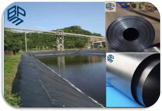 geomembrane pond liner showed in Singapore Aqua SG'17 Exhibition