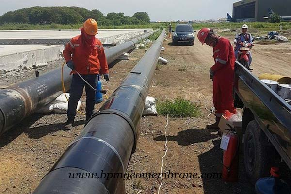 HDPE Geomembrane Liner for Splashguard System in Indonesia