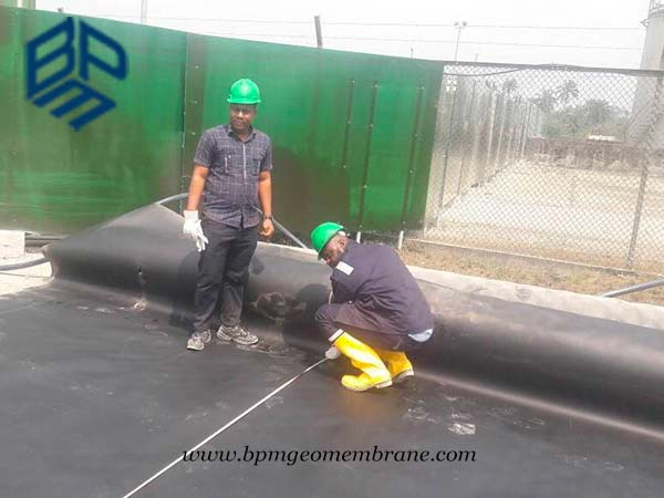 HDPE Geomembrane sheet for Secondary Containment Project in Nigeria
