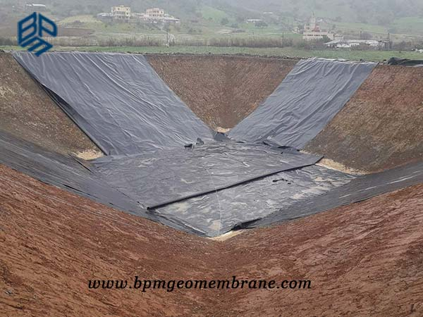 Small Pond Liner for Water Storage Project in Morocco