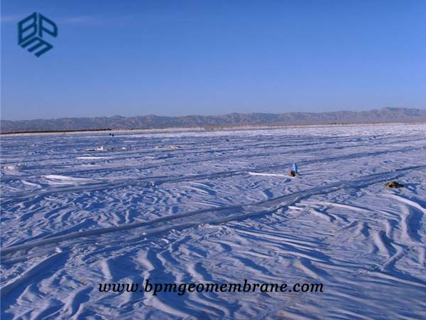 Composite HDPE Geomembrane Liner for artificial lake in Weinan