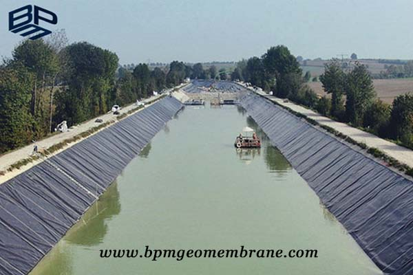 HDPE Geomembrane For Canal lining Project In Mumbai