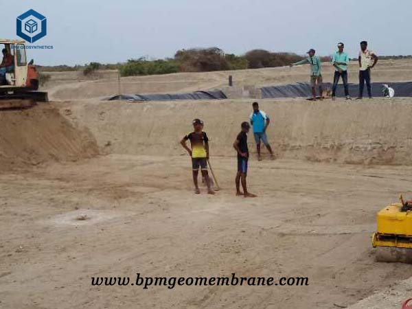 Pond Lining Sheets for Shrimp Pond Project in Sri Lanka