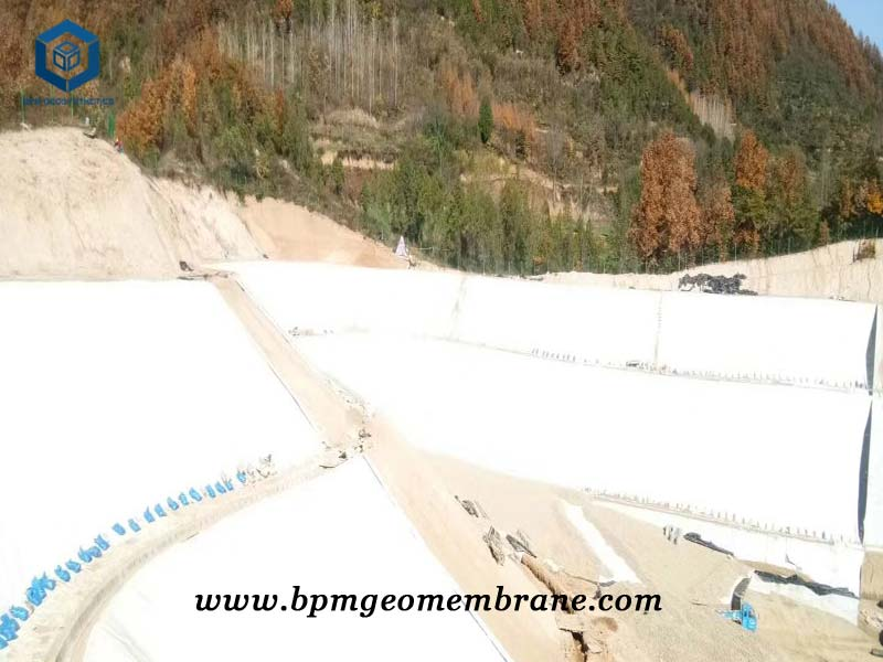 High Density Pond Liner for Dam Construction