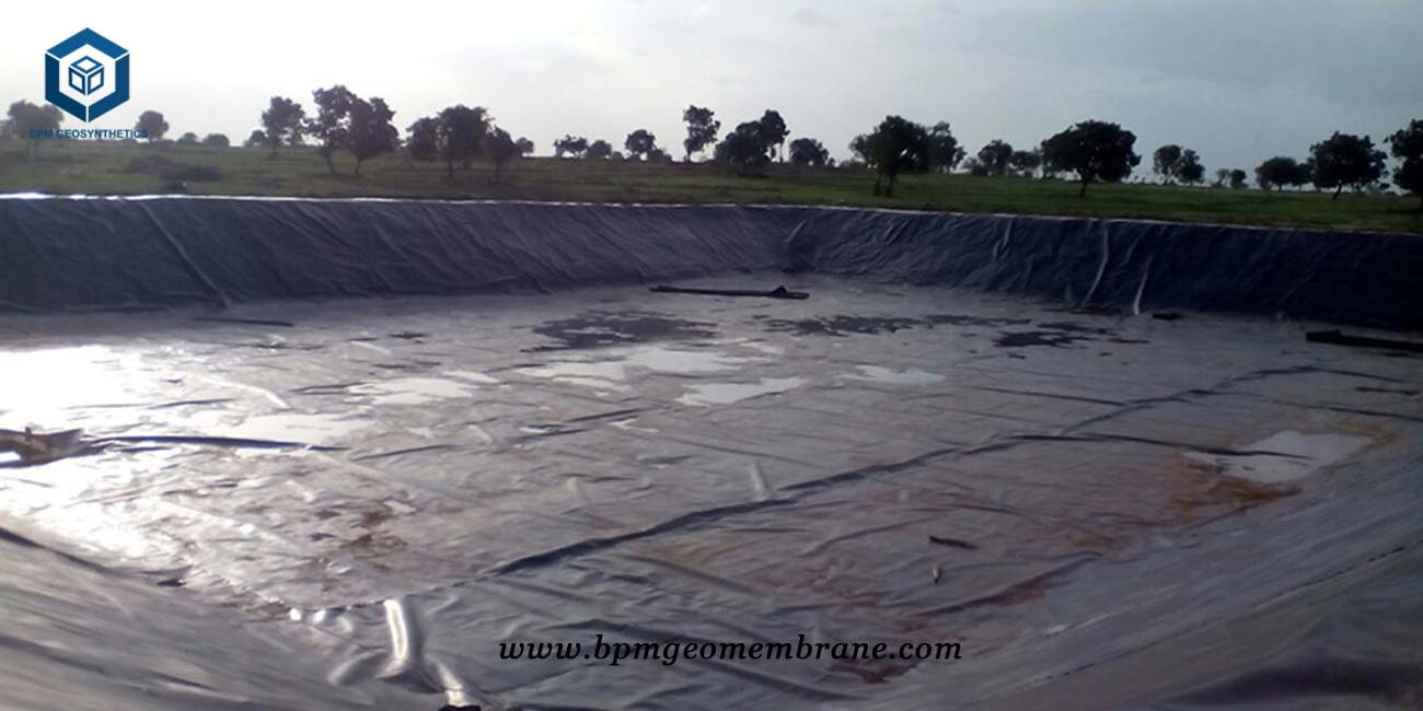 Agricultural Pond Liner Project in India