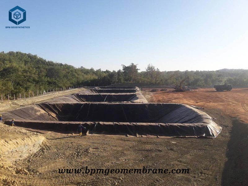 Pit liner for oil containment project in Myanmar
