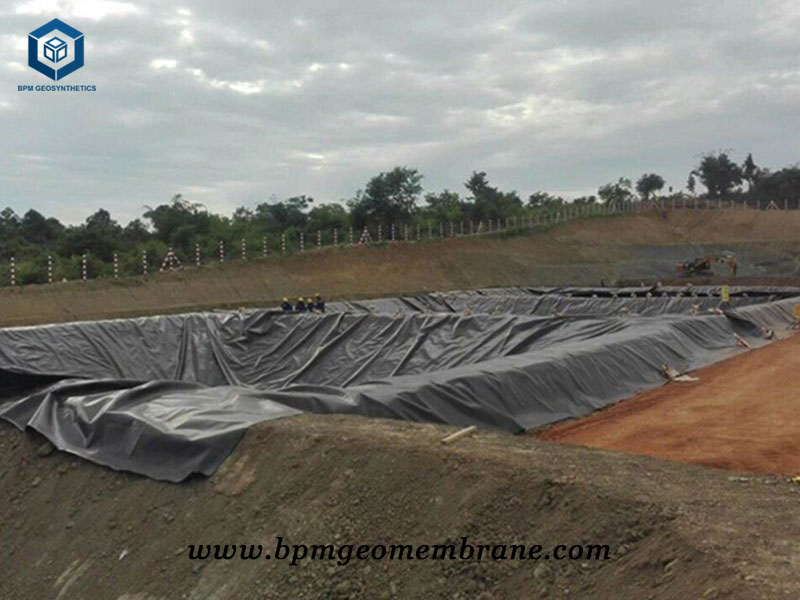 Pit liner for oil fluid containment project in Myanmar