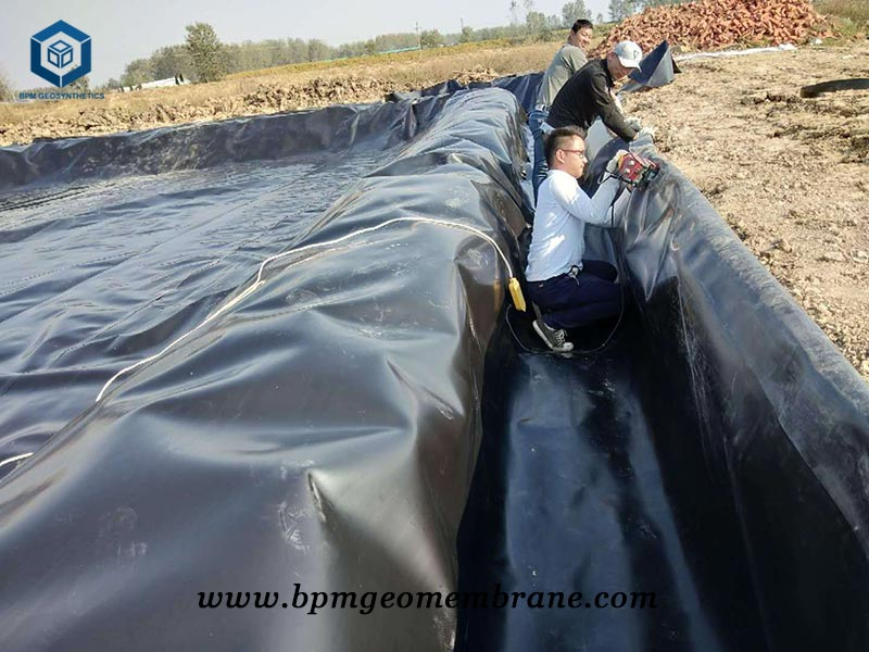 HDPE Pond Membrane Liner for Biogas Project in Mexico