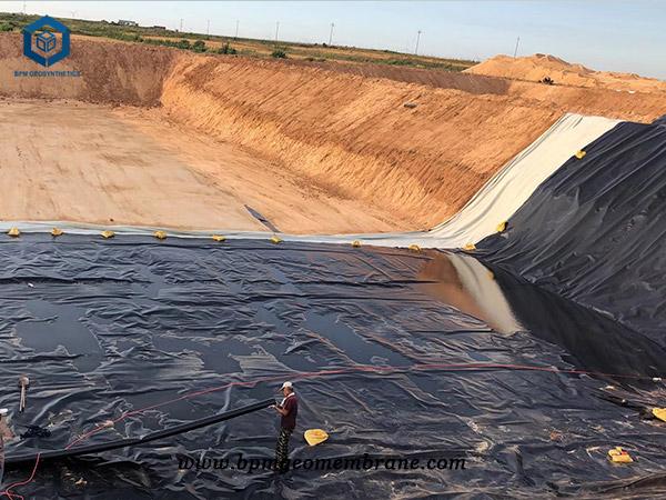 Black Pond Liner for Oxidation Ponds in China