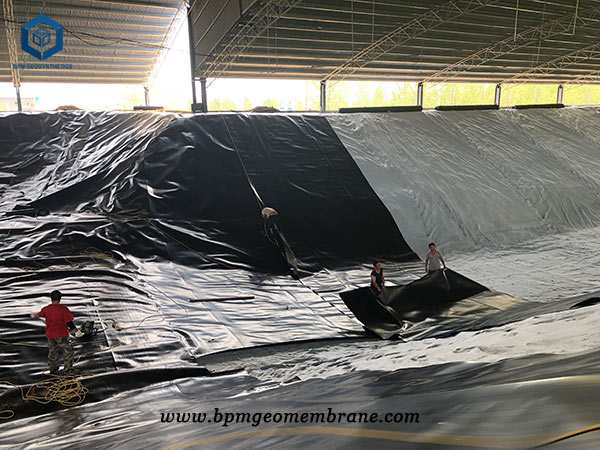 HDPE Geomembrane Pond Liner Underlay for Starch Tail Sedimentation Tank in Shandong