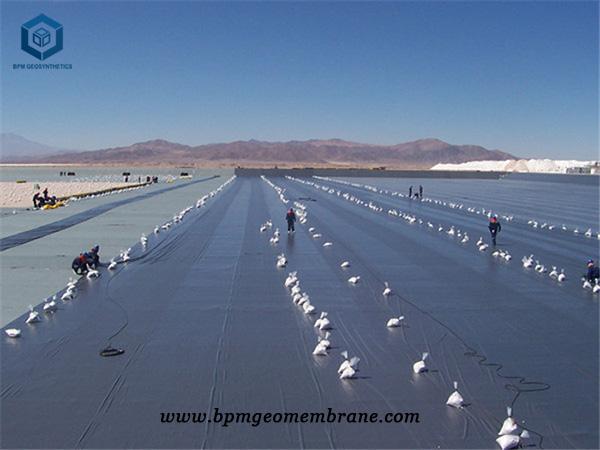 Pvc Pond Liner for Salt Field Project in Qinghai